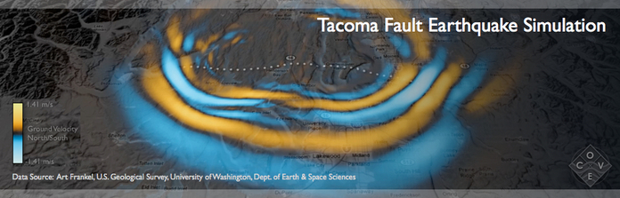 Tacoma Fault Earthquake Simulation