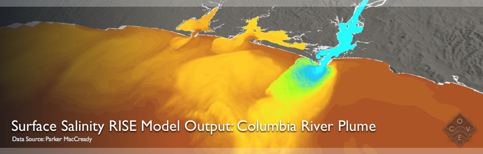 Surface Salinity RISE Model Output: Columbia Plume